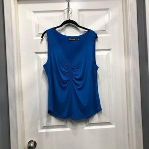 NY&Company blue v-neck tank